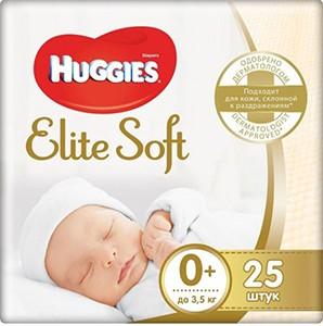 Huggies подгузники Elite Soft Convy №0+ 25шт