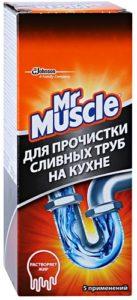 Mr.Muscle Средство для прочистки труб Гранулы картон 250гр