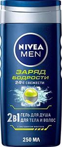 Nivea Men Гель для душа Заряд Бодрости 250мл