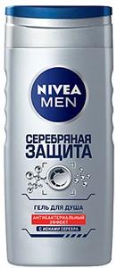 Nivea Men Гель для душа Серебряная Защита 250мл