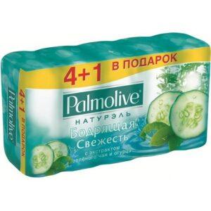 Palmolive мыло Натурэль Мультипак Зелёный чай и Огурец 5х70гр