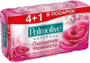 Palmolive мыло Натурэль Мультипак Молоко и Роза 5х70гр