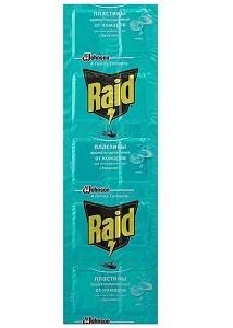 Raid Пластины от Комаров для Фумигатора с Эвкалиптом 10шт