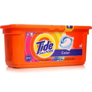 TIDE Средство моющее в растворимых капсулах Color 30шт