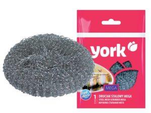 York Губка для посуды спиральная из нержавеющей стали MINI 1шт