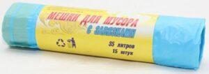 Синтер Мешки для мусора с завязками (35л) 15шт