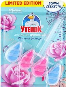 Туалетный Утёнок подвесной очиститель Капельки Цветочная Фантазия 39гр