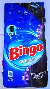 BINGO Порошок стиральный автомат BLACK&DARK COLORS 3кг