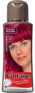 Fiona Vintage Оттеночный бальзам для волос №6 Гипнотический красный 125мл