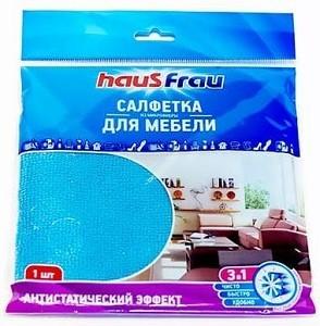 Haus Frau Салфетки для уборки 3в1 из Микрофибры для мебели 1шт