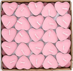 Love Tea Lights Свечи Сердечки розовые