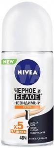 Nivea Антиперспирант Ролик Невидимый для чёрного и белого Extra 50мл