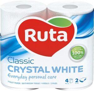 Ruta Туалетная бумага Classic Crystal White 2-сл. 4шт