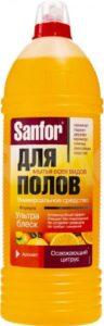 SANFOR средство для мытья полов Освежающий Цитрус 1000мл