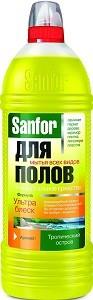SANFOR средство для мытья полов Тропический Остров 1000мл