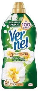 Vernel кондиционер для белья АРОМА Белый пион и Масло Хлопка 1.82л