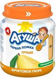 Агуша Пюре фруктовое Гипоаллергенное Груша банка 115мл