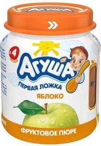 Агуша Пюре фруктовое Гипоаллергенное Яблоко банка 115мл