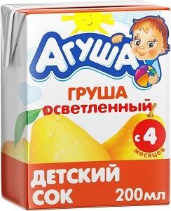 Агуша Сок детский Груша 200мл