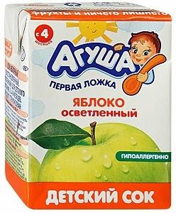 Агуша Сок детский Яблоко 200мл