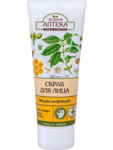 Зелёная Аптека скраб для лица Медово-кофейный 75мл