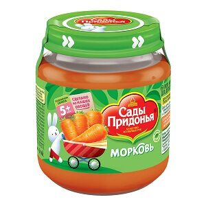 Сады Придонья пюре Морковь 120мл