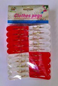 Clothes pegs прищепки пластиковые цветные 20шт