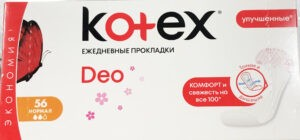 Kotex Ежедневки Deo Normal Liners 56шт