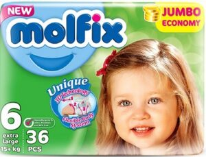 MOLFIX Подгузники детские №6 EXTRA LARGE JUMBO 36шт