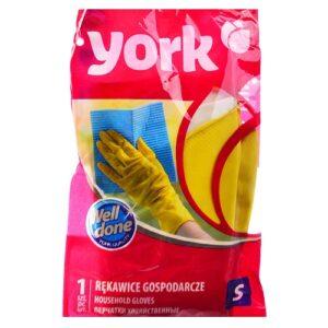 York Перчатки резиновые Хозяйственные S 1шт