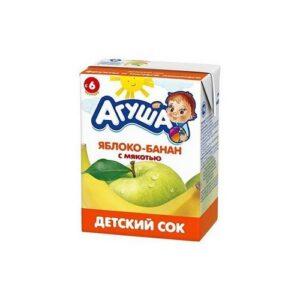 Агуша Сок детский Яблоко-Банан с мякотью 200мл