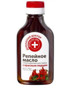Домашний доктор Репейное масло Стимулирующее рост волос с красным перцем 100мл