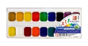 Луч краски акварельные Медовые 18шт