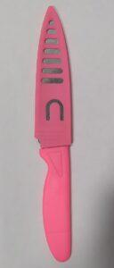 Нож с пластиковой ручкой в чехле 1шт