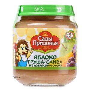 Сады Придонья пюре Яблоко-груша-слива 120мл