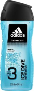 ADIDAS Men Гель для душа Body-Hair-Face Ice Dive 250мл