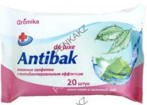 Antibak Влажные салфетки Алоэ Вера и Зелёный Чай 20шт