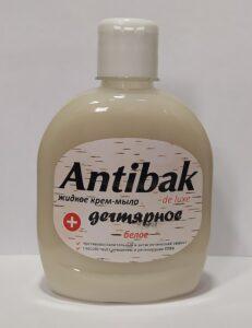 Antibak De Luxe жидкое мыло Дегтярное Белое без дозатора 330мл