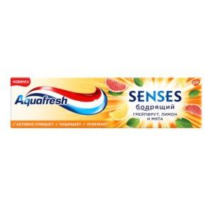 Aquafresh Senses Зубная паста Бодрящий Грейпфрут-лимон-мятная 75мл