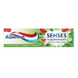 Aquafresh Senses Зубная паста Освежающий Арбуз-огурец-мятная 75мл