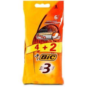 BIC 3 Sensitive Бритва одноразовая 4+2шт