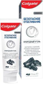 Colgate зубная паста Безопасное отбеливание Природный уголь 75мл