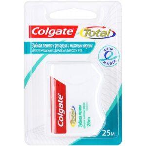 Colgate Total зубная лента с Фтором и Мятой 25м