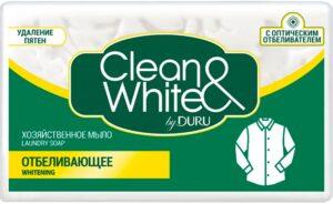 DURU Хозяйственное мыло Clean&White Отбеливающее 4х125гр