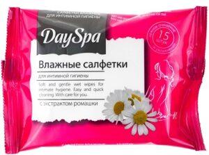 DaySpa влажные салфетки для интимной гигиены с Экстрактом Ромашки 15шт