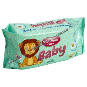 Econom Care влажные салфетки для детей с экстрактом Ромашки 100шт