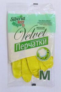 FROM SIBERIA WITH LOVE Перчатки Хозяйственные M Латексные с Хлопковым напылением