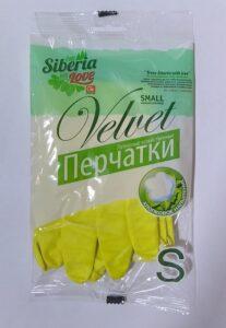 FROM SIBERIA WITH LOVE Перчатки Хозяйственные S Латексные с Хлопковым напылением