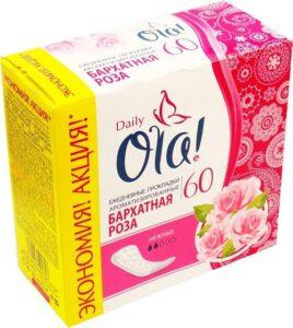OLA Daily Deo гигиенические прокладки на каждый день Бархатная Роза 60шт