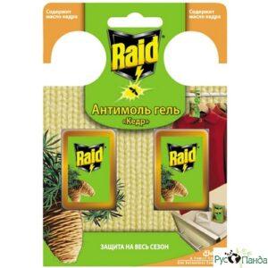 Raid гель Антимоль с маслом Кедра 3.3мл 2шт
